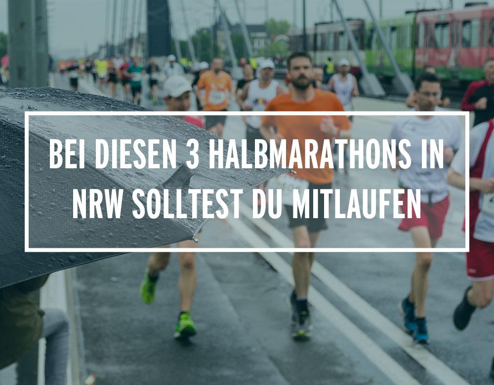 Wettkampfteilnehmer bei einem Halbmarathon in NRW