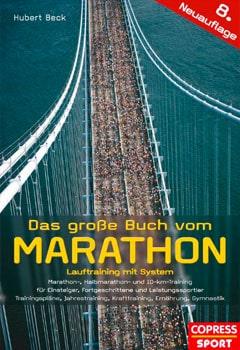 Buchcover vom Laufbuch Das große Buch vom Marathon von Hubert Beck