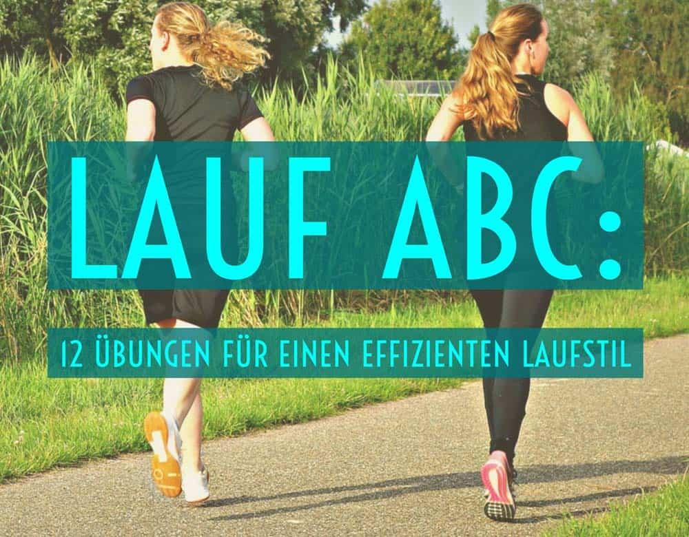 Zwei Läuferinnen machen Lauf ABC