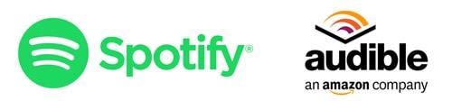 Audible und Spotify Logos