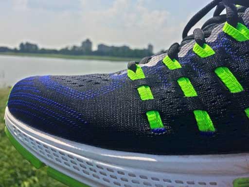 Der vordere Bereich eines Laufschuhs von Nike
