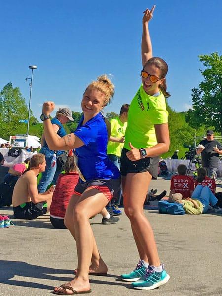 Isa und Laura beim Wings of Life Run in München