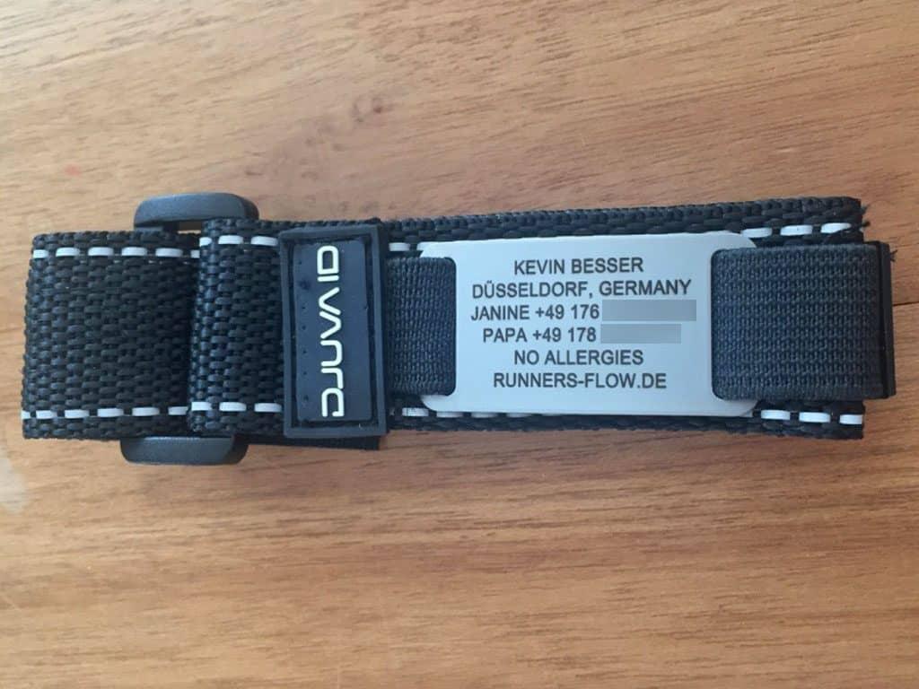 Das ID-Armband in der Gesamtansicht