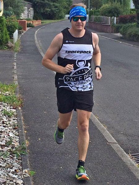 Läufer Maik beim Training