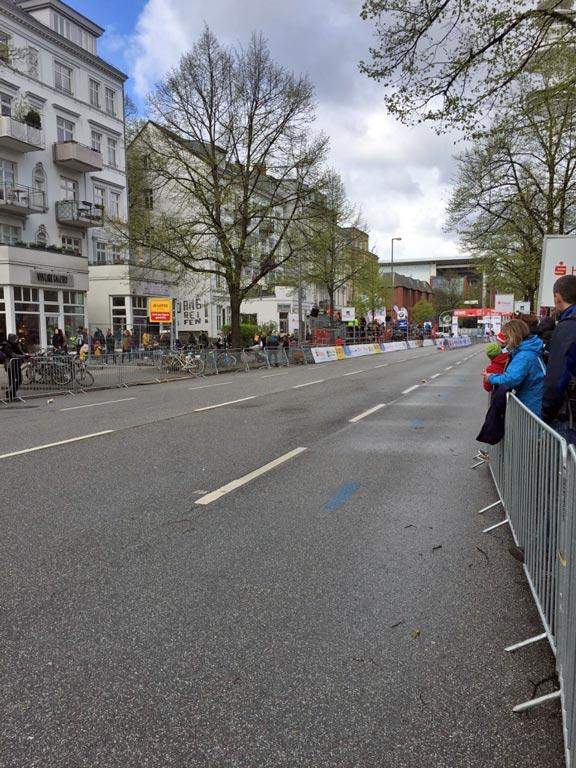 Start- und Zielbereich des Haspa Marathon Hamburg
