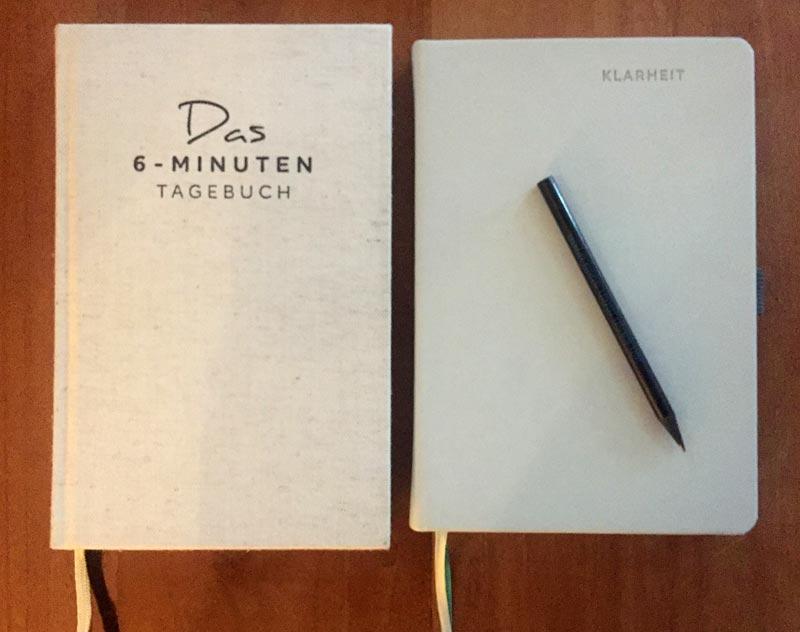 Bücher Klarheit und 6 Minuten Tagebuch
