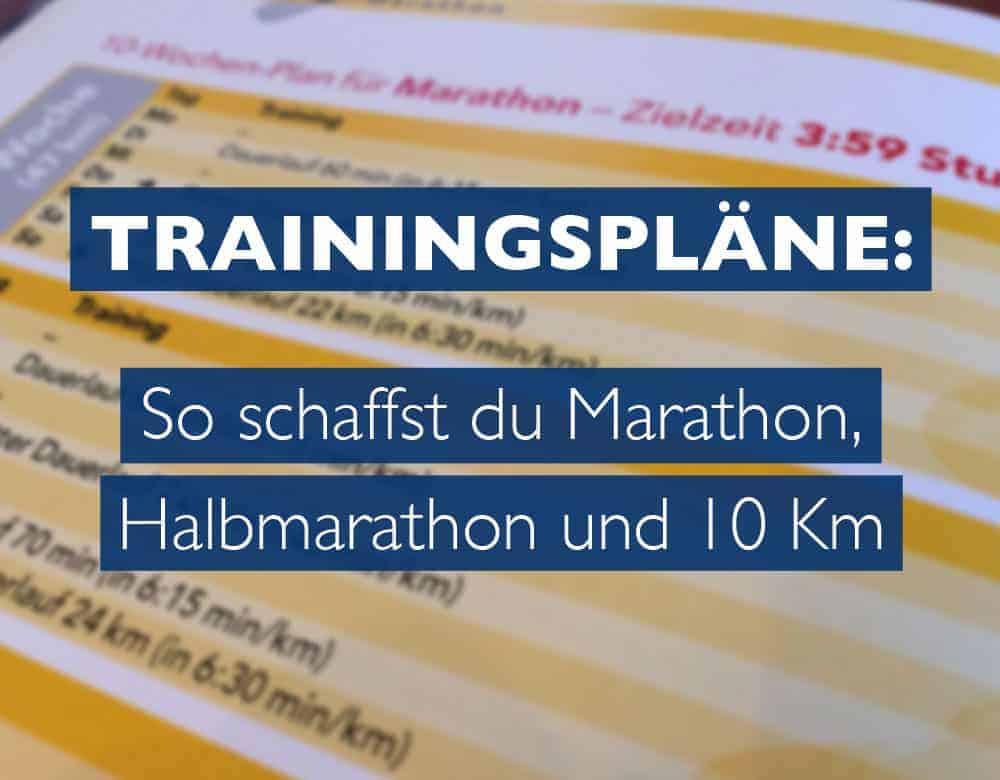 Trainingsplan zum Laufen
