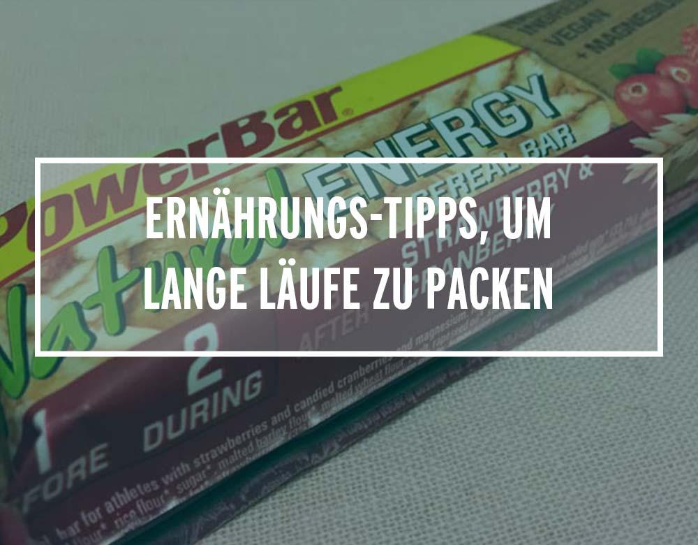 Clevere Ernährungs-Tipps, um lange Läufe zu packen