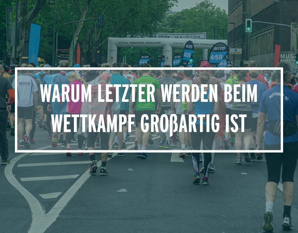 Läufer beim Metro Marathon Düsseldorf 2018