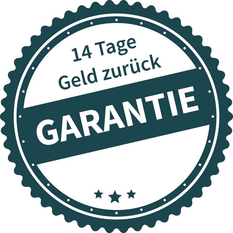Logo einer 14 Tage Geld zurück Garantie