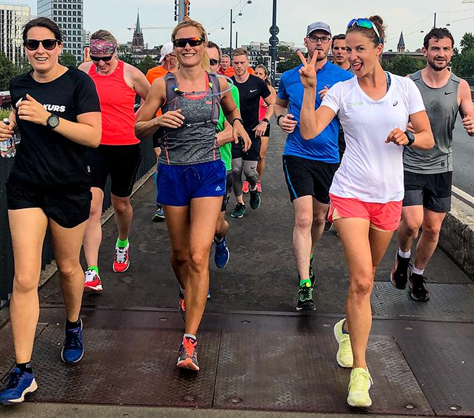 Laufe deineersten 30 Min.ohne Pause