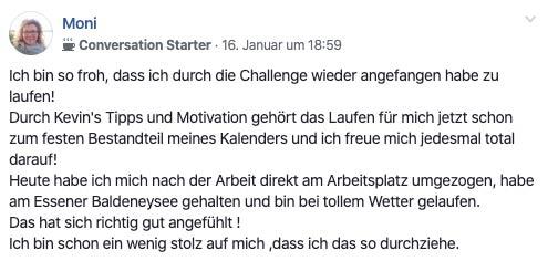 referenz von Monika über runnersflow bei Facebook