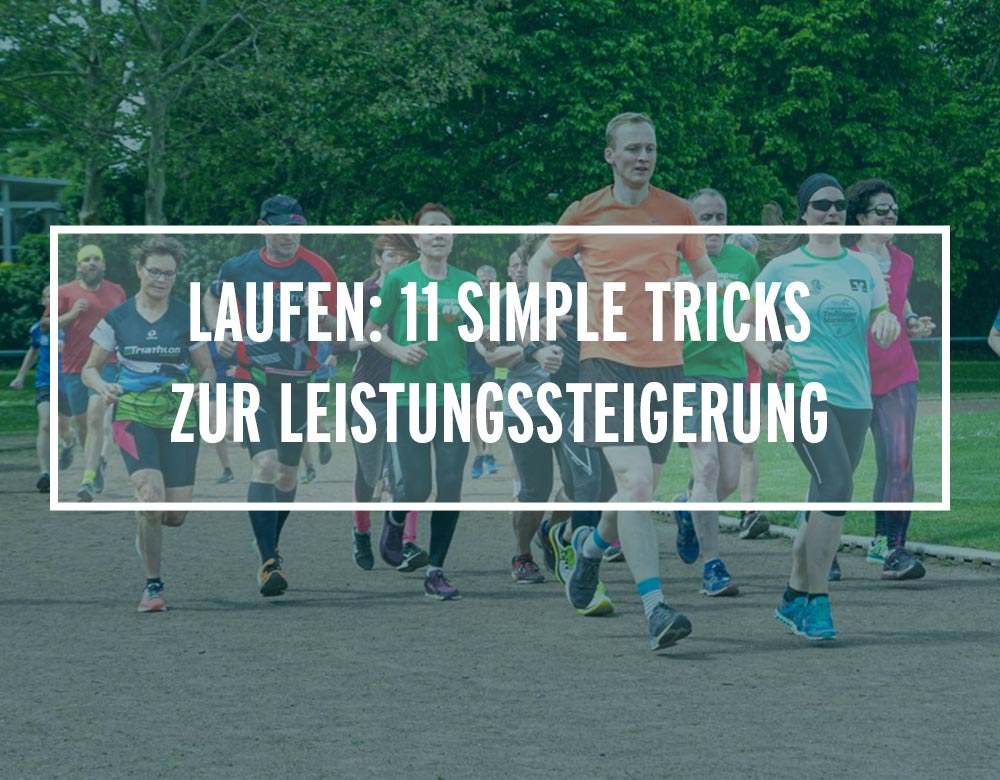 Eine Gruppe Läufer trainiert zusammen