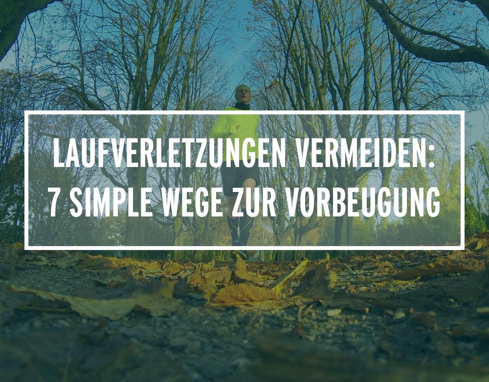 Ein Läufer joggt auf einer Allee