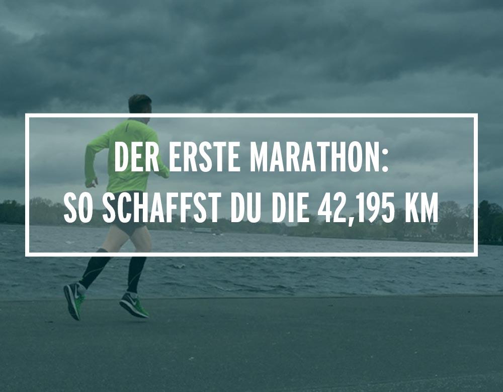 Der erste Marathon: So schaffst du die 42,195 Km