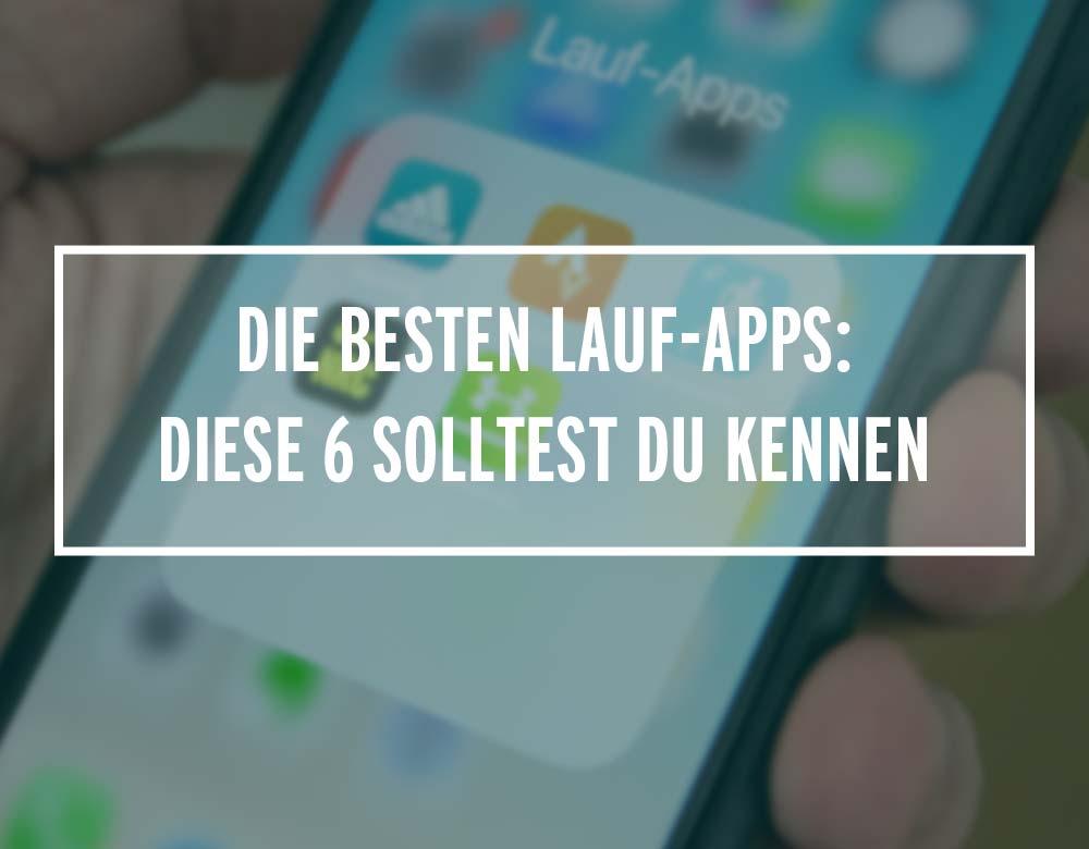 Übersicht von Lauf-Apps auf einem Handy