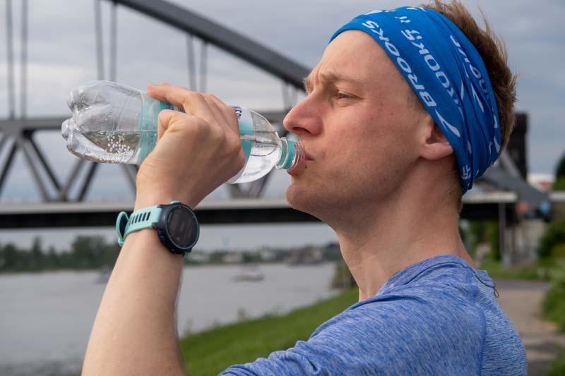 Langer Lauf und Trinken sind direkt miteinander verknüpft