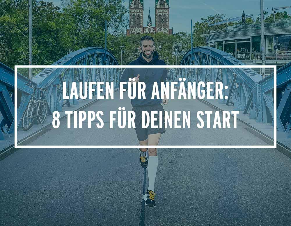 Laufen für Anfänger: Schorsch läuft auf einer Brücke