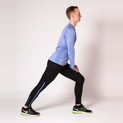 Schienbeinschmerzenbeim beim Laufen: Übung Wadendehnung