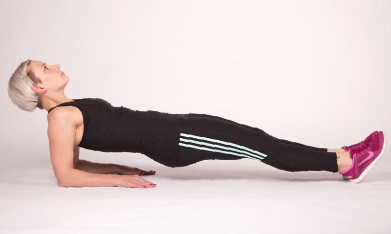 Der Rückenstütz ist eine hervorragende Stabilisationsübung