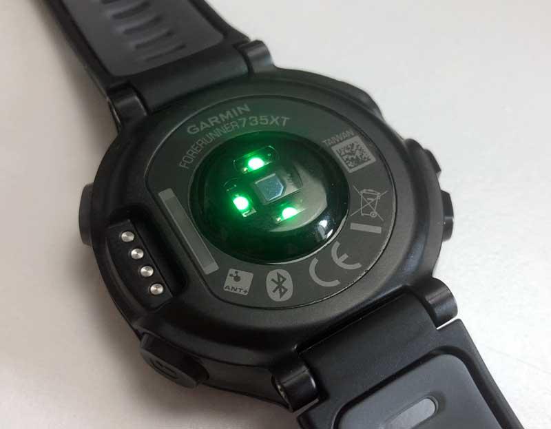 Optischer Sensor einer Laufuhr