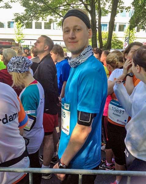 Kevin von runnersflow bei seinem ersten Halbmarathon