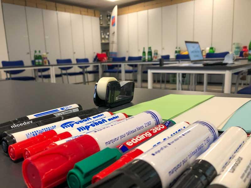 Seminarraum beim Laufworkshop